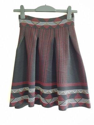 Maje Falda circular multicolor tejido mezclado