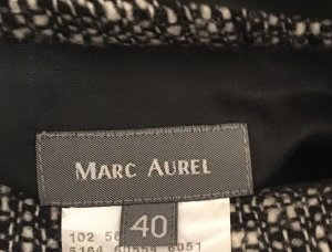 Marc Aurel Tweed rok wit-zwart Wol