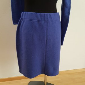 Marc Cain Wool Skirt blue violet