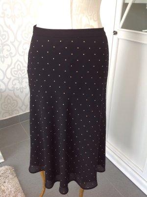 Michael Kors Flared Skirt black-gold-colored