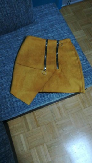 Missguided Jupe asymétrique orange doré