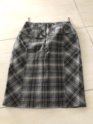 Oasis Jupe taille haute gris-noir