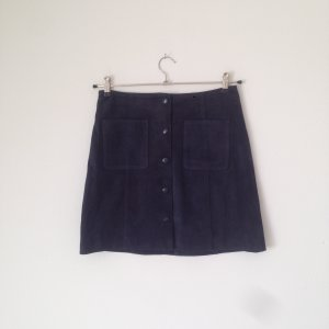 & other stories Leren rok donkerblauw