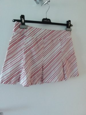 Pimkie Falda asimétrica blanco-rojo oscuro