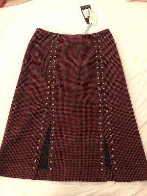 Scotch & Soda Falda de talle alto rojo oscuro-negro