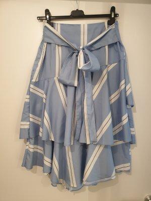 SheIn Jupe superposée blanc-bleu azur