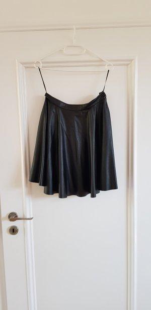 Stefanel Faux Leather Skirt black