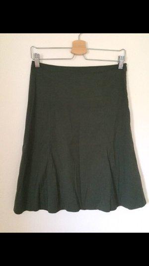 Strenesse Gonna midi grigio-verde-verde scuro Cotone
