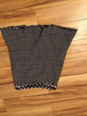 Tory Burch Wool Skirt dark blue-white wool