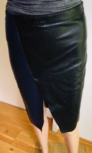 Vero Moda Faux Leather Skirt black-steel blue