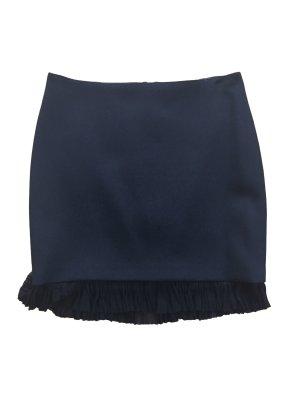 Versace Mini rok zwart Polyurethaan