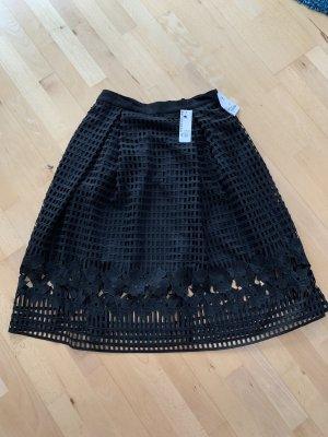Warehouse Falda de encaje negro