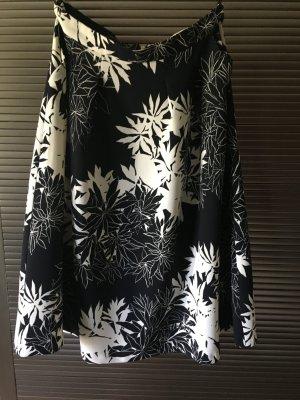 Rock von Warehouse mit schwarz weißem Blumenprint in Gr 40