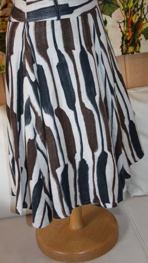 Zara Basic Falda de lino multicolor Algodón