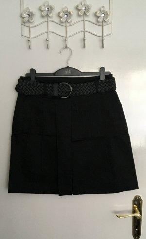 Zara Basic Gonna a pieghe nero Cotone