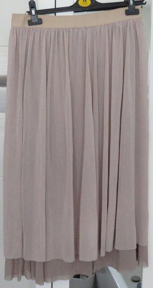 Zara Jupe mi-longue beige