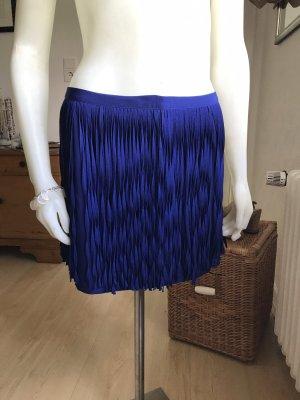 Zara Fringed Skirt blue