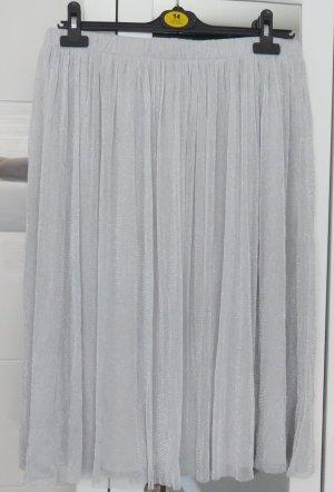 Zara Jupe mi-longue argenté