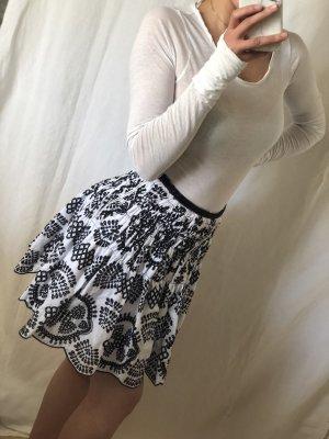 Zara Jupe ballon noir-blanc