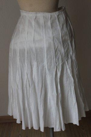 Atmosphere Jupe évasée blanc coton