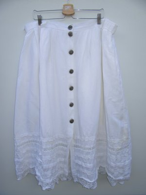 Vintage Jupe en lin blanc