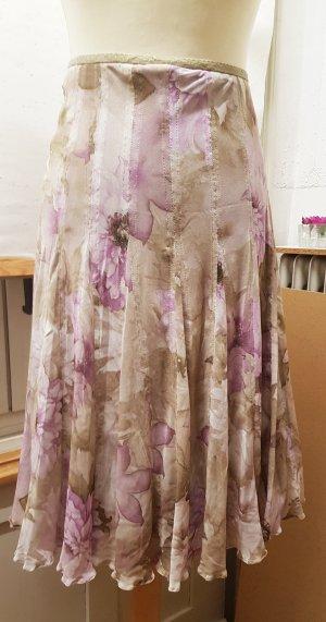 Falda de tul crema-malva
