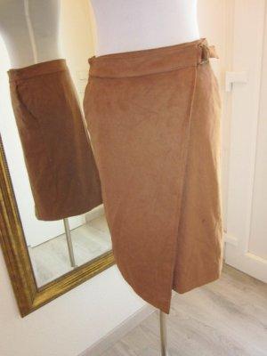 Falda de cuero de imitación coñac Imitación de cuero
