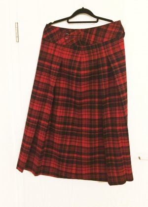 Atelier Gardeur Plaid Skirt black-red wool