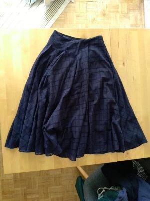 Zara Basic Rok grijs-paars-donkerpaars