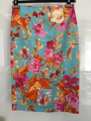 Rock Zara Gr 36 bunt mit Blumenprint