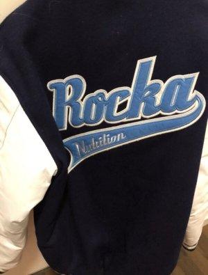 College Jacket white-dark blue
