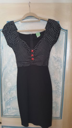 Rockabilly Kleid schwarz mit weissen Punkten