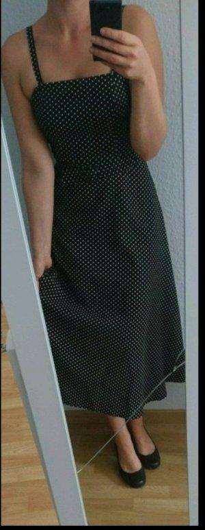 Rockabilly Kleid schwarz mit weißen Punkten