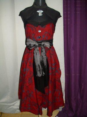 Rockabilly Petticoat Kleid in rot/schwarz Größe 40 (L)