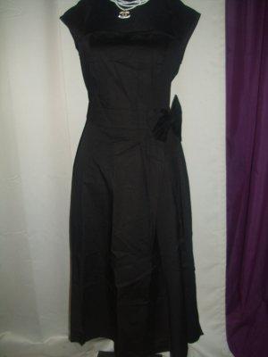 Petticoatjurk zwart Katoen