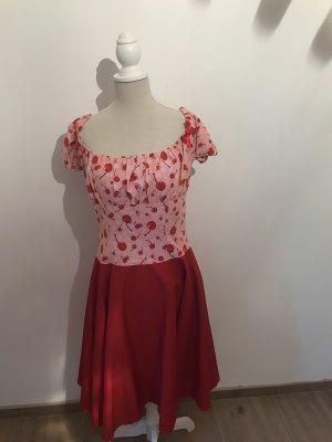 Rockabilly / Petticoat Kleid mit Kirschen Gr 38/40