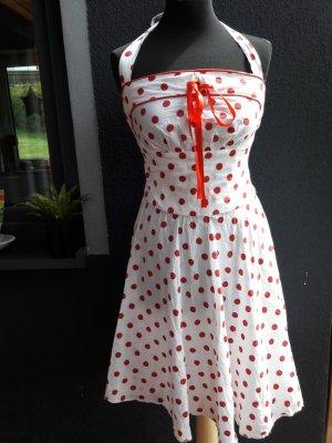 Vestido con enagua blanco-rojo