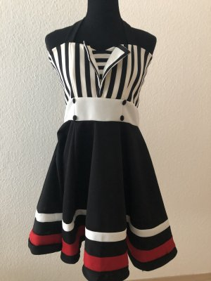 Rockabilly Sailor Kleid Bandeaukleid