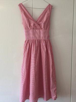 Petticoat Dress white-bright red cotton