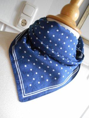 Rockabillystyle Nickituch Halstuch Blau mit weißen Punkten