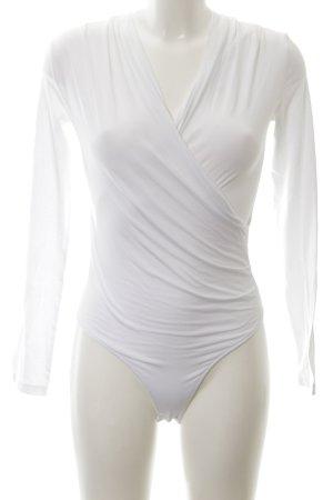 Rockamora Bodysuit Blouse white extravagant style