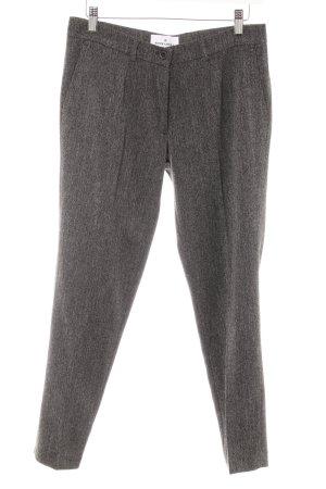 Rockamora Pantalon à pinces noir-blanc Motif de tissage style d'affaires