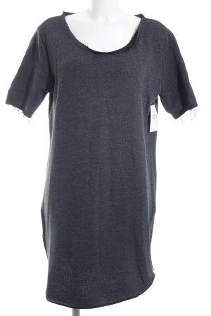 Rockamora Kurzarmpullover grau minimalistischer Stil