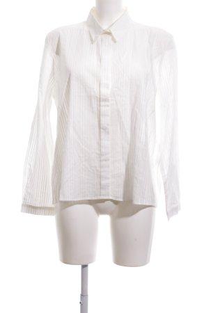 Rockamora Langarm-Bluse weiß Streifenmuster Business-Look