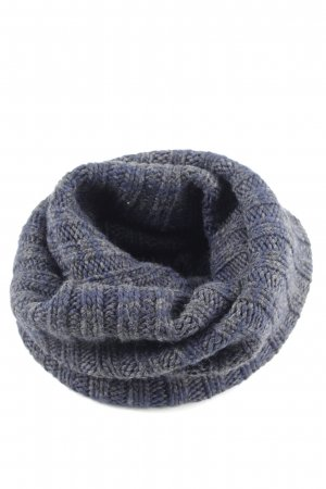 Rockamora Tube Scarf blue cable stitch business style