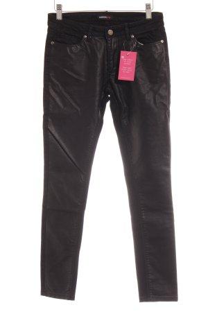 Rockgewitter Skinny Jeans schwarz-silberfarben Casual-Look