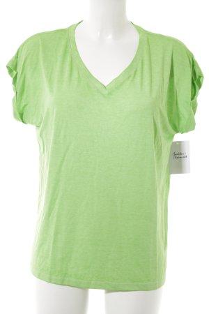 Rockgewitter T-shirt neon groen gestippeld casual uitstraling