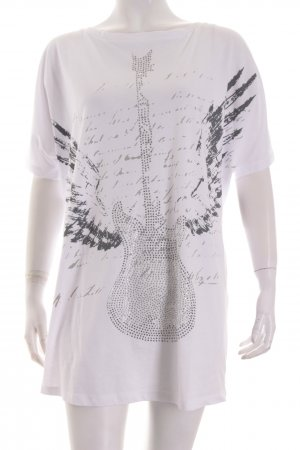 Rockgewitter T-Shirt platzierter Druck Street-Fashion-Look