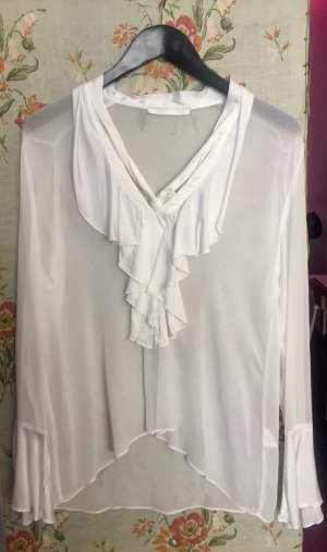 Transparante blouse wit