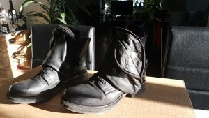 A.S.98 Ankle Boots black leather